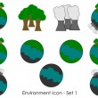 Environment icon - Set 1 — Image vectorielle