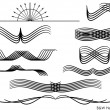 Royalty-Free Stock Imagen vectorial: BW Headers - Set 1