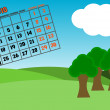 Stock Photo: Calendar 2010 - May