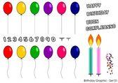 Birthday card - Set 1 — Stock Vector
