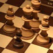 Stock Photo: Chess - brave black pawn