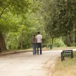 Young couple walking in the park - Stock Photo