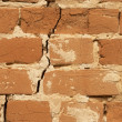 Wall brick cracked background - Stock Photo