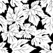 Royalty-Free Stock Vector Image: Grape leafs seamless pattern