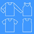Set of the shirts — Stock Vector