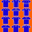 Royalty-Free Stock Vector Image: Set of the T-shirts. Vector.