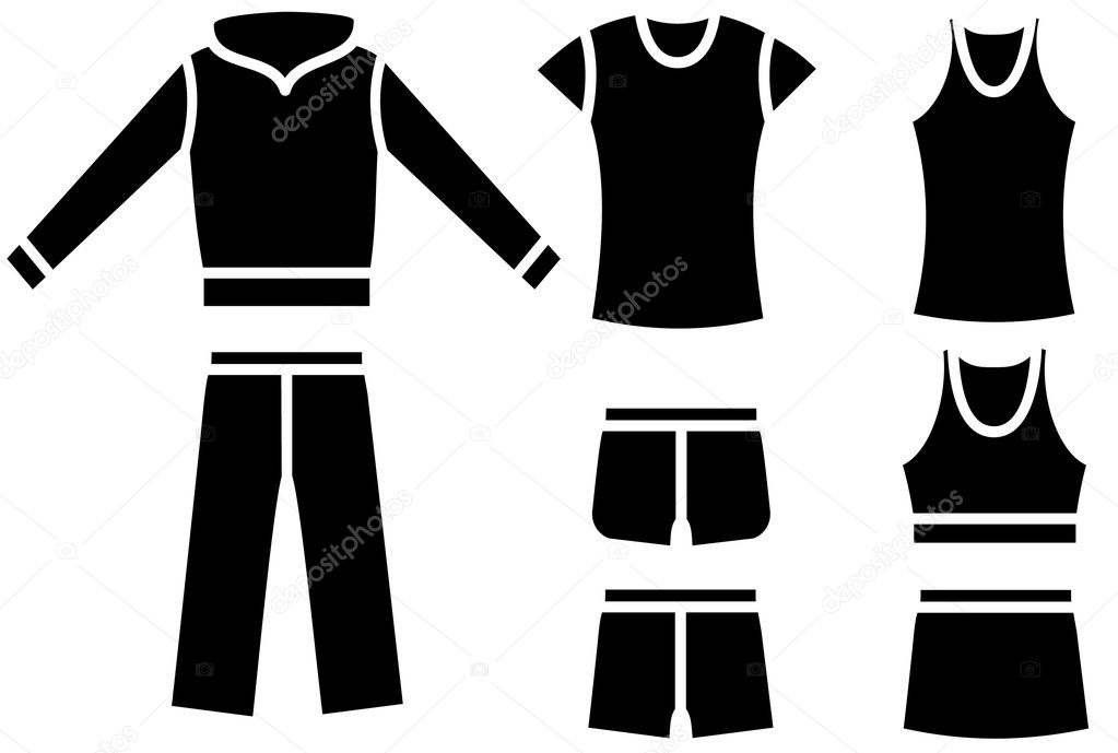 Set of the woman's casual wear. Vector — Stock Vector #1051274