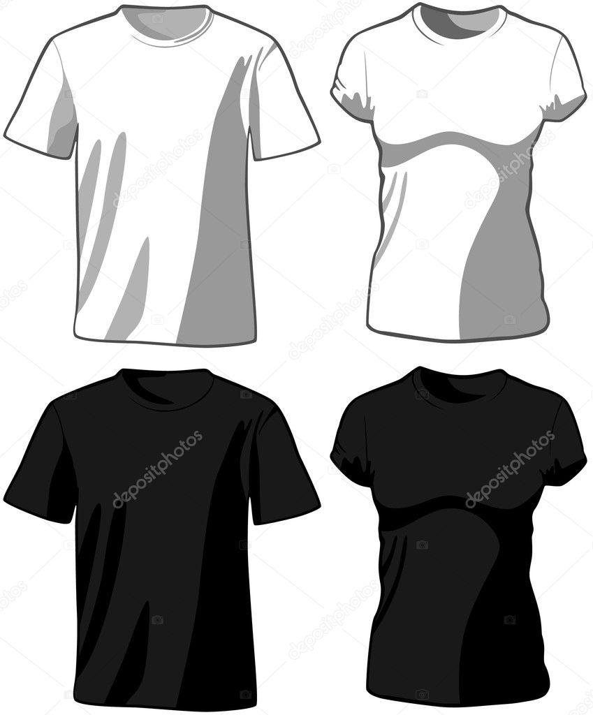 Black t shirt vector photoshop - T Shirts Vector Vector By Khvost