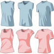 Set of the casual wear — Stock Vector