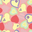 Stockvector : Seamless pattern with hearts