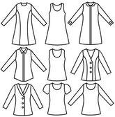 Woman's wear — Stock Vector