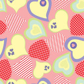 Seamless pattern with hearts — Vector de stock