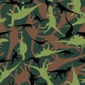 Dinosaur camouflage seamless pattern — Stock Vector