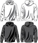 Unisex hoodies. Vector — Stock Vector