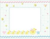 Child photo framework. Vector — Stock Vector