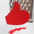 Stock Photo: Fragmentary paper heart