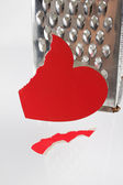 Fragmentary paper heart — Stock Photo