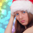The nice girl on the eve of new year — Stock Photo #1364001