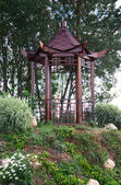 Arbour in the Chinese style — Stock Photo