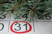 Los treinta primeros de un calendario — Foto de Stock