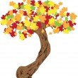 Fall leaves background — Imagen vectorial
