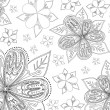Royalty-Free Stock Vector Image: B&w floral background