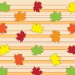 Fall leaves background — Stock Vector