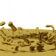 Stock Photo: Golden splashes