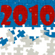 New years puzzle — Stockfoto #1034197