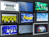 TV screens — Stock Photo