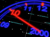 Blue New years space Speedometer — Stock Photo