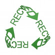 Stock Photo: Recycling symbol