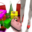 Royalty-Free Stock Photo: Bags, shopping and gifts