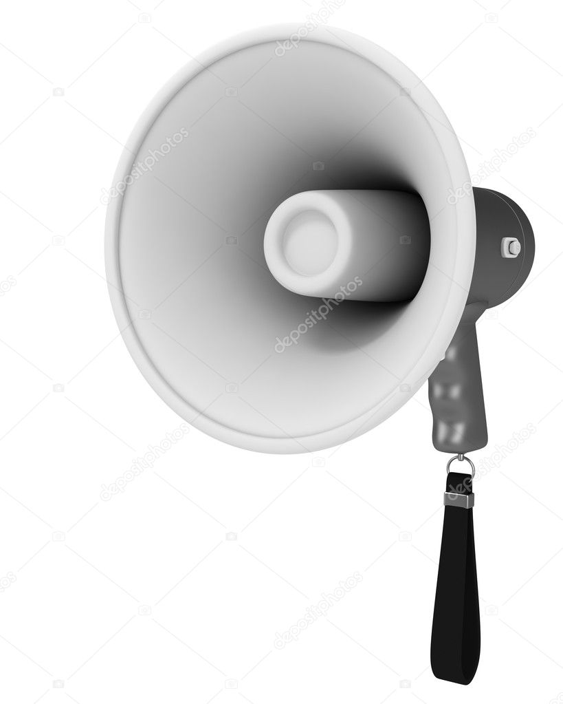 Megaphone isolated on white background. 3d render  Stock Photo #1060141