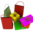 Stock Photo: Bags, shopping and gifts