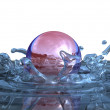 Stock Photo: Water splashes