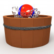 Wooden tub — Stock Photo