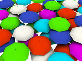 Many umbrellas — Foto Stock