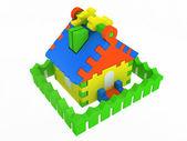 Toy house — Stockfoto