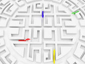 Round labyrinth — Stock Photo