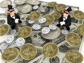 Två rika — Stockfoto