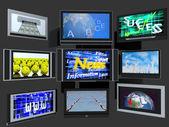 TV screens — Stock Photo