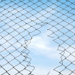 Mesh fence — Stock Photo #1444913