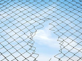 Mesh fence — Stock Photo