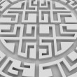 Round labyrinth - Stock Photo