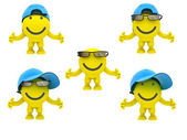 The smiley in a glasses — Stock Photo