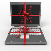 Notebook as gift — Stock Photo
