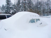 Snowbound car — Stock Photo