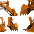 Stock Photo: Digger scoop