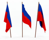 Haitská vlajka — Stock fotografie